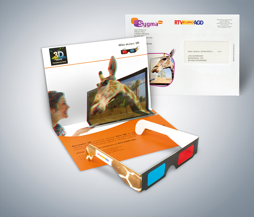 Mailing interaktywny z gadżetem – okulary 3D
