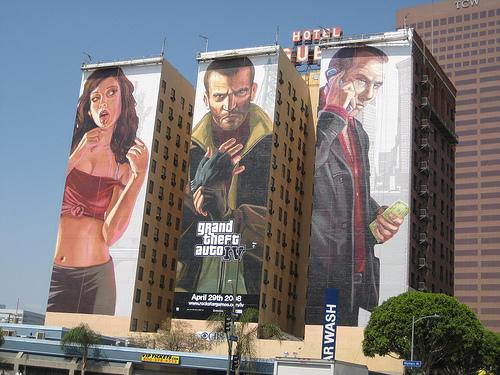 Mural GTA V w Los Angeles