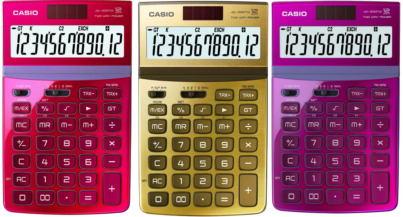 Kalkulatory Casio JW-200TW