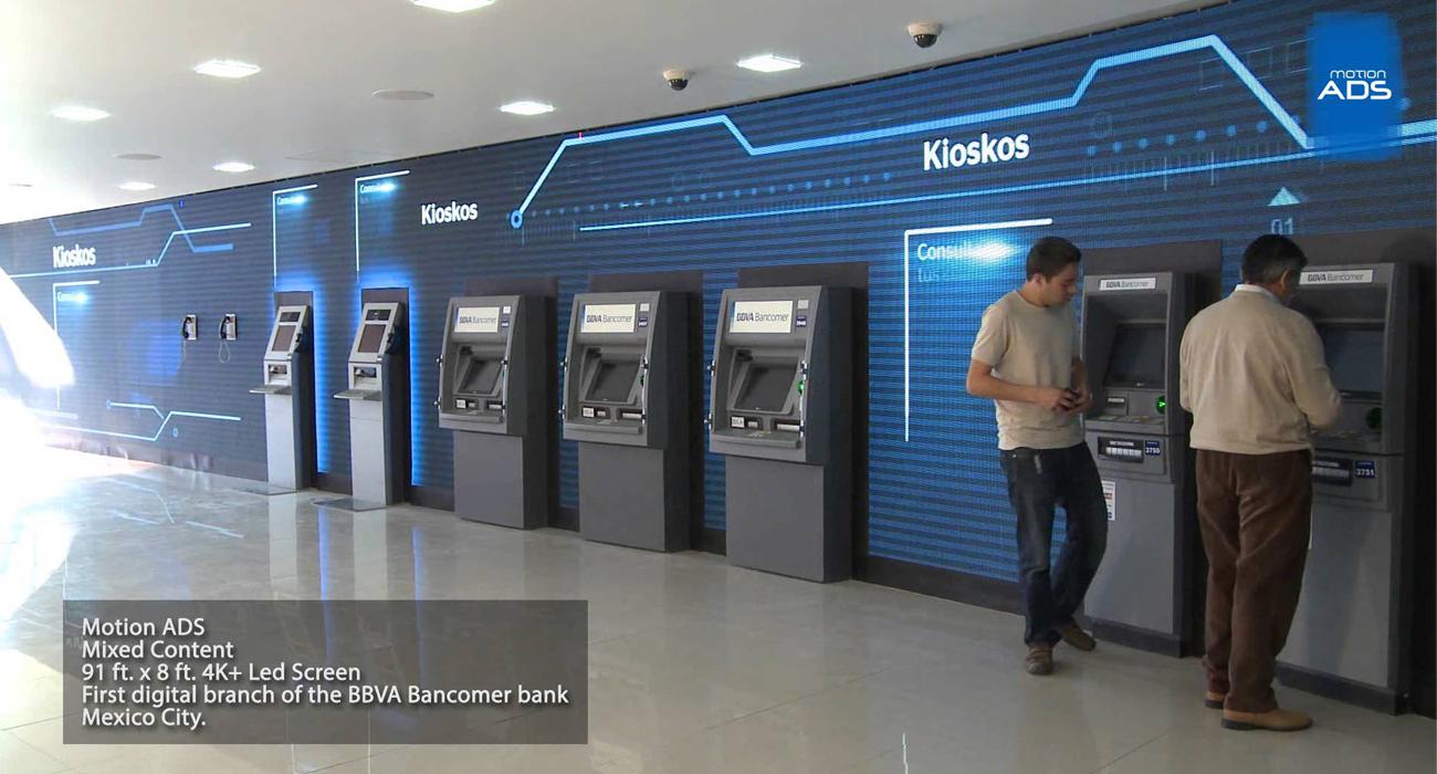 Videowall dla BBVA Bancomer
