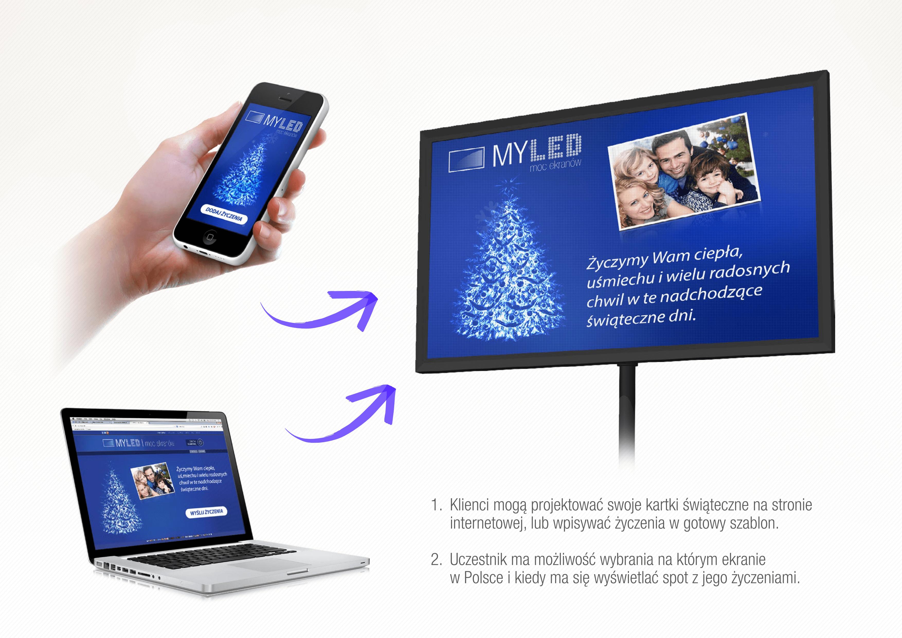 Kampanie świąteczne korzystające z integracji nośników LED zaproponowała w tym roku agencja MyLed