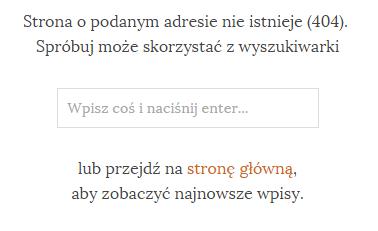 Strona błędu 404 serwisu wpsamurai.pl