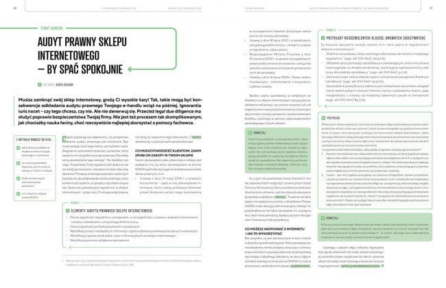 """Audyt sklepu internetowego - Magazyn """"E-commerce w Praktyce"""" już na rynku!"""