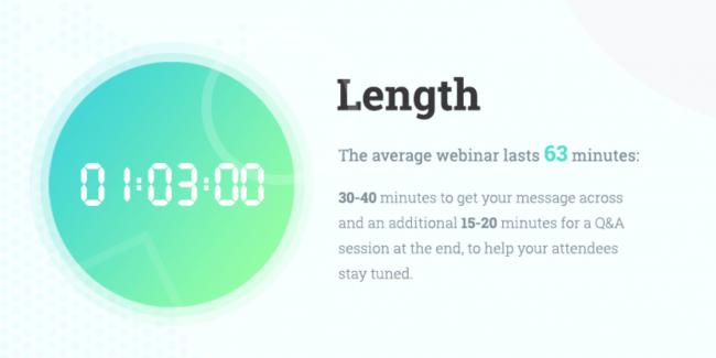 Długość webinaru - - 6 sprawdzonych sposobów na skuteczny webinar
