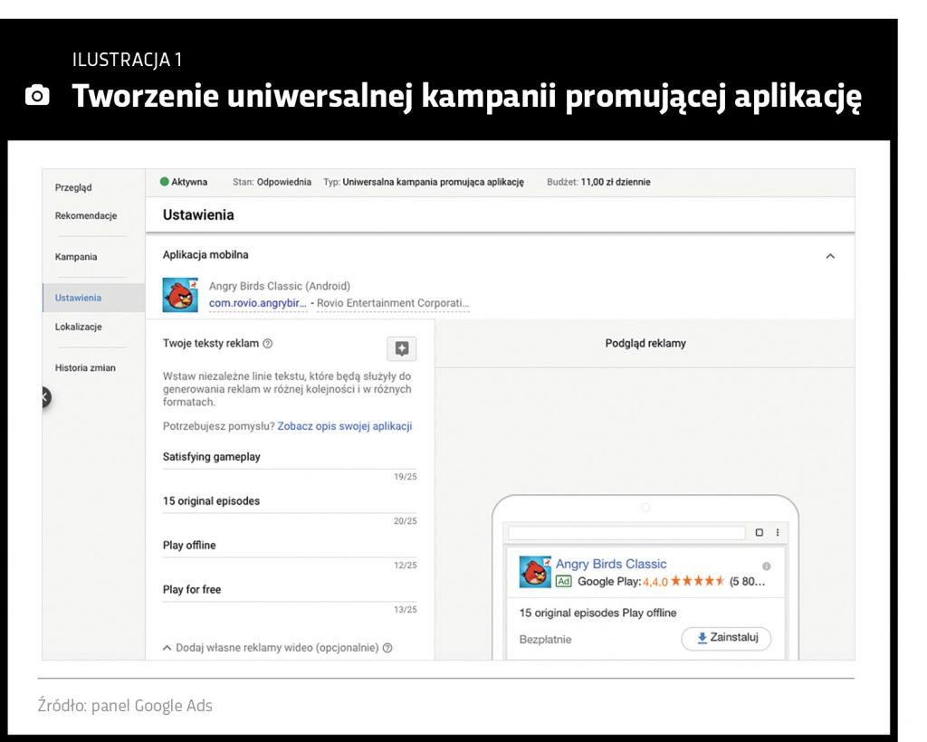 Layout systemu Google Ads:Tworzenie uniwersalnej kampanii Google Ads