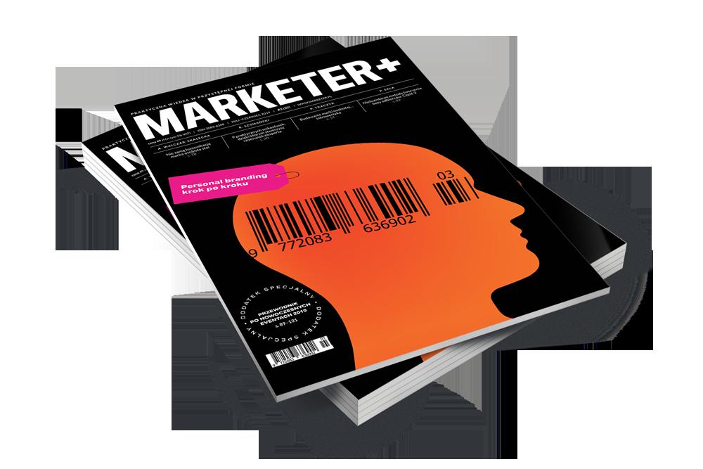 Okładka najnowszego magazynu Marketer+ : Personal branding krok po kroku