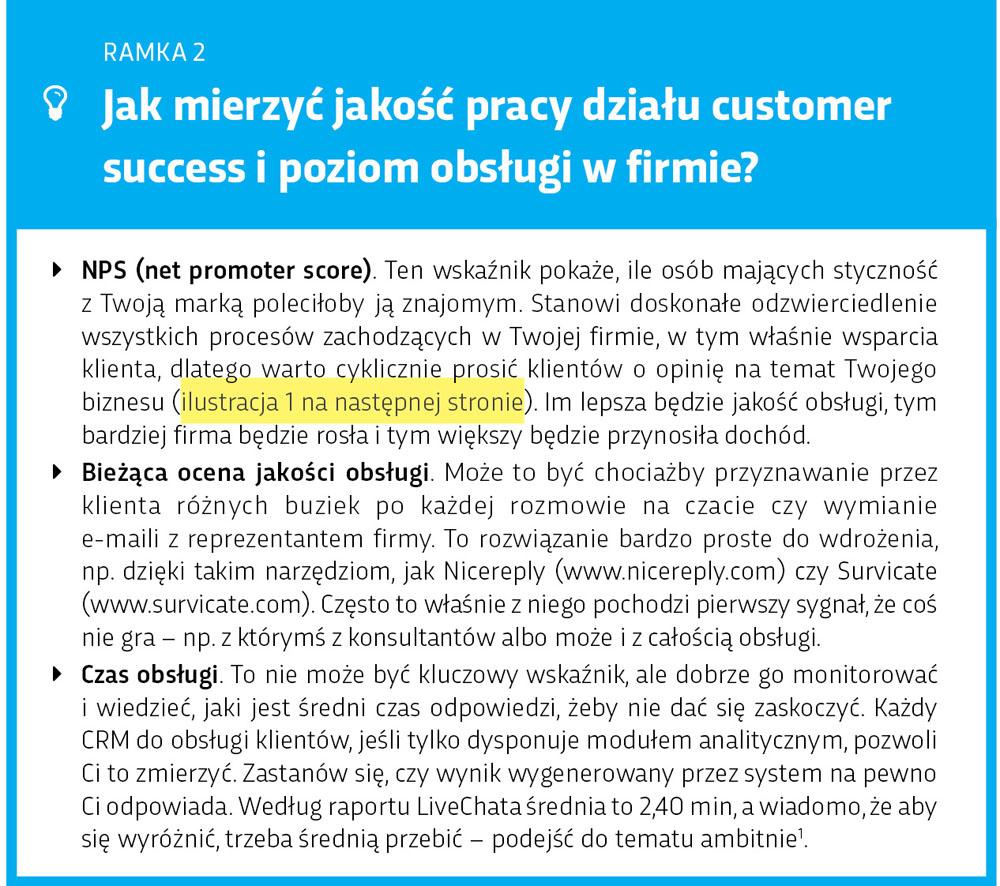 Ramka: Mierz jakość pracy działu customer success