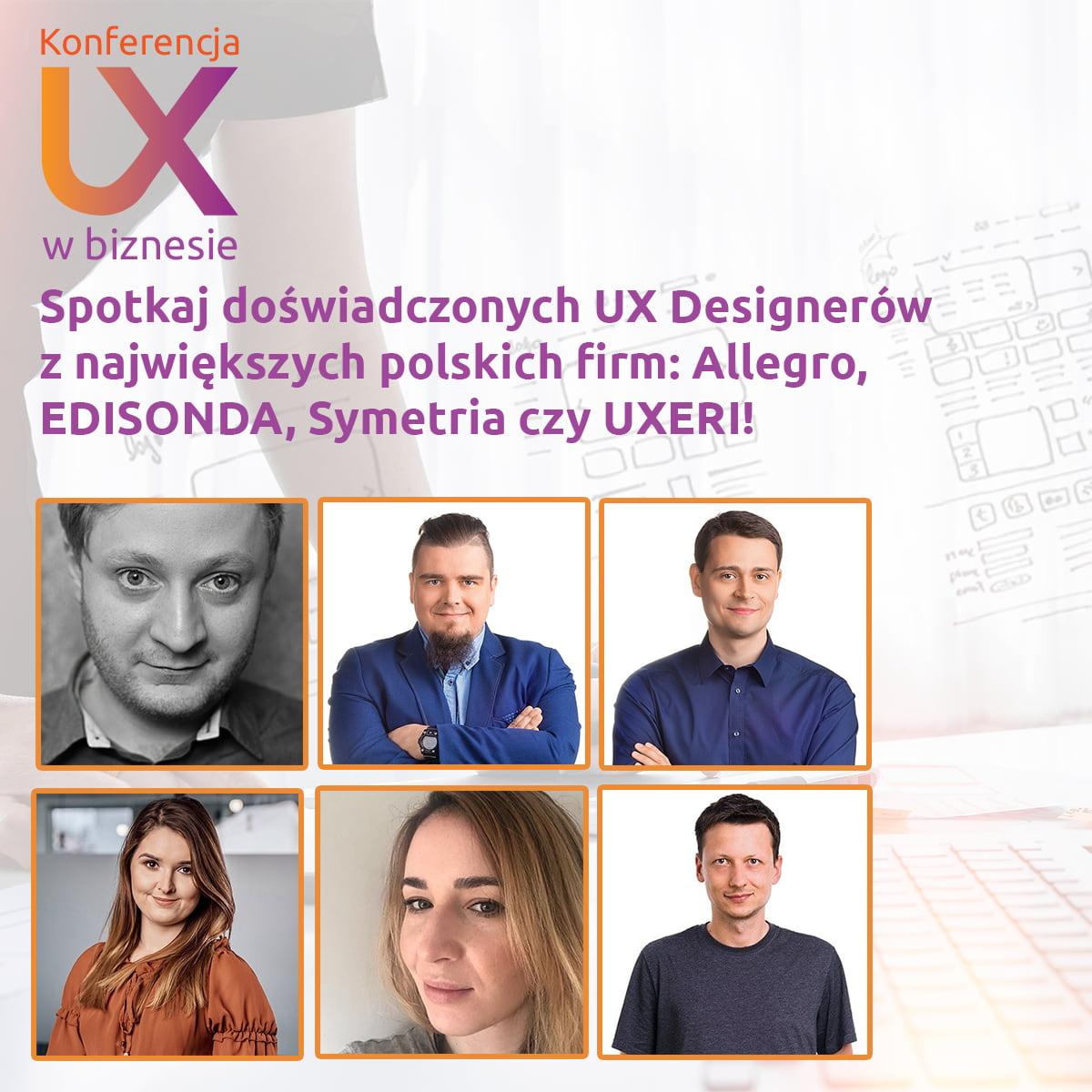 Prelegenci Konferencji UX w biznesie