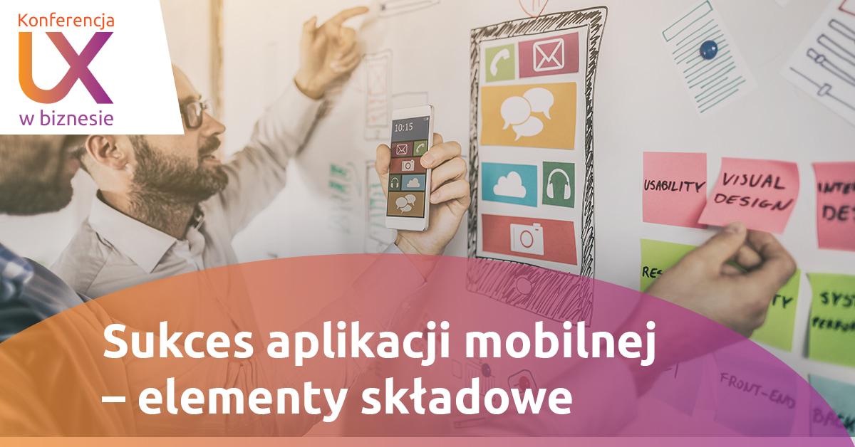 Panel 1: grafika mężczyzny planującego projekt aplikacji mobilnej