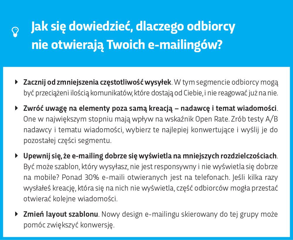 Dlaczego odbiorcy nie otwierają moich mailingów?