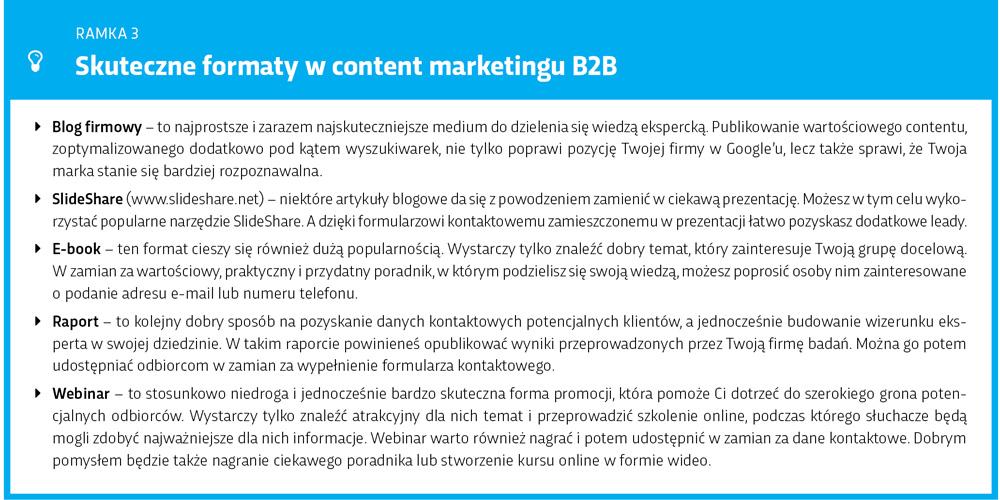 Skuteczne formaty w marketingu treści