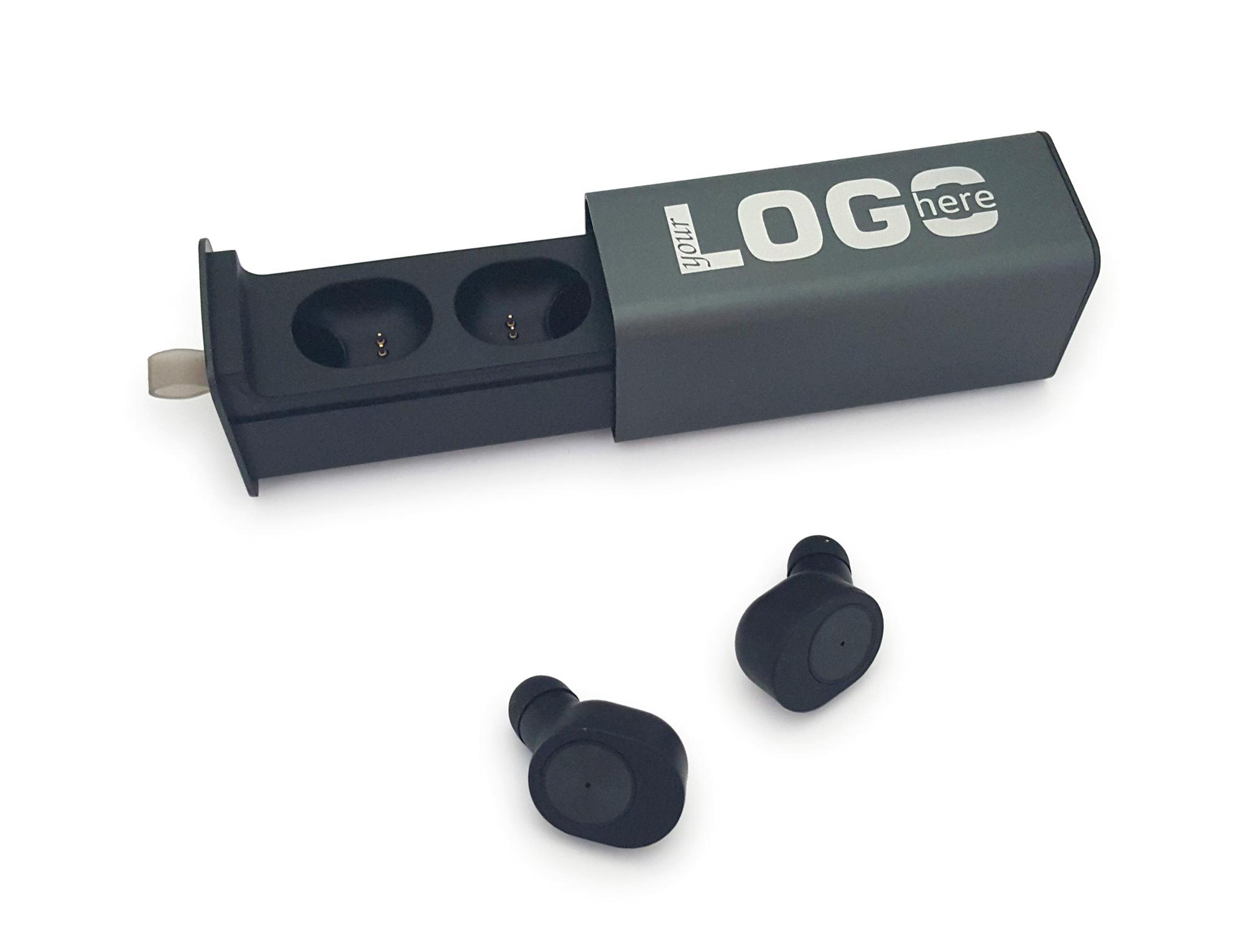 Słuchawki ze stacją ładującą, z funkcją zestawu głośnomówiącego. Bluetooth 4.2 - kampanie gadżetowe 2020