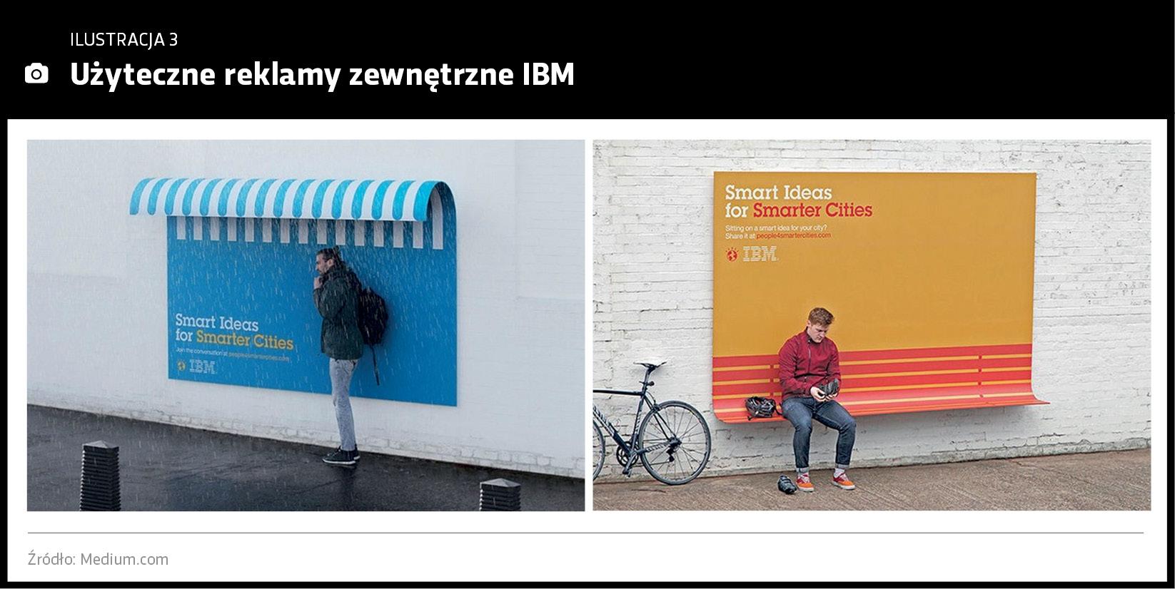 Użyteczne reklamy zewnętrzne IBM