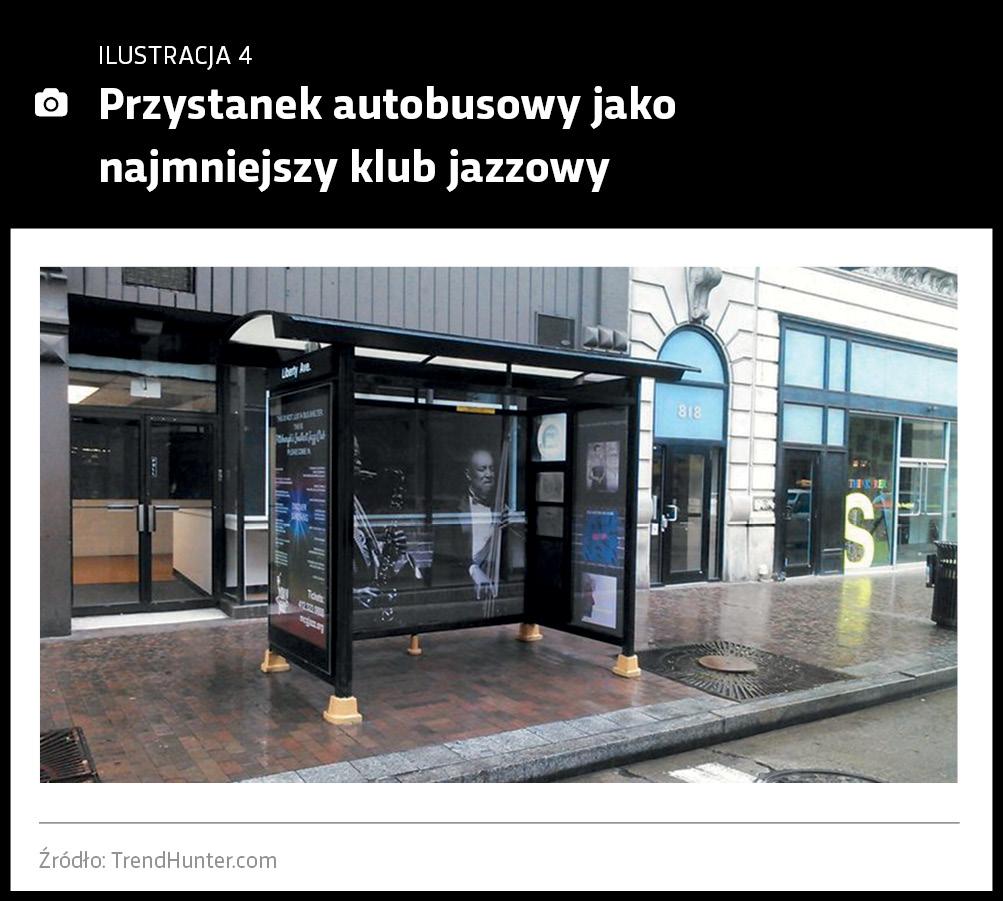 Przystanek autobusowy jako najmniejszy klub jazzowy