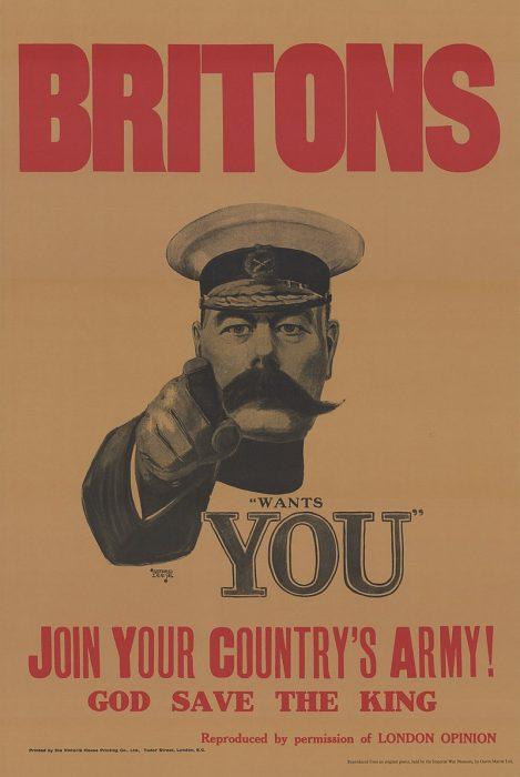 Plakat armii brytyjskiej z I wojny swiatowej - konsument istota racjonalna czy emocjonalna