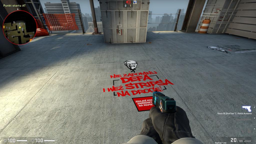 Akcja KFC na mapach CSGO