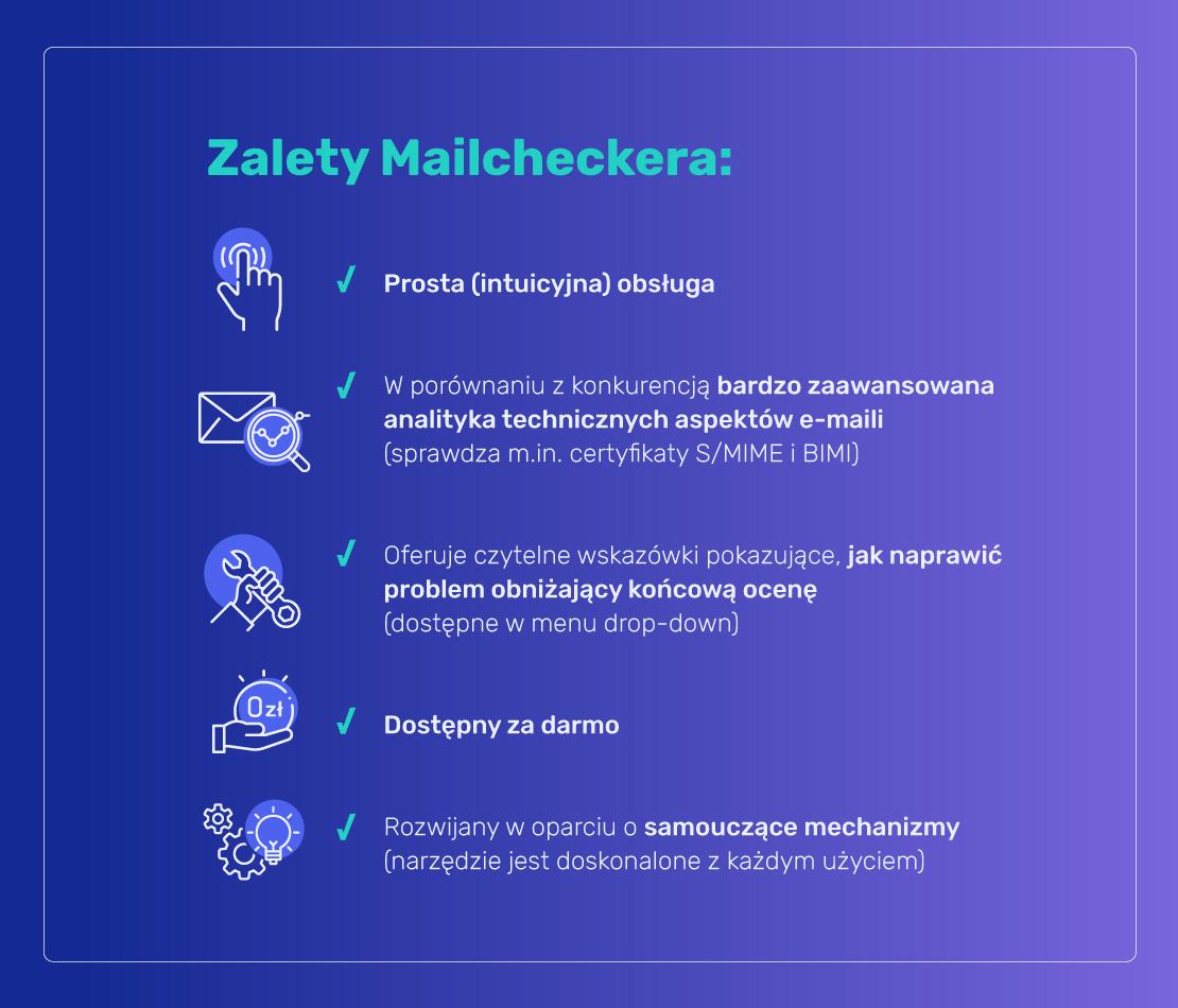 Zalety MailCheckera