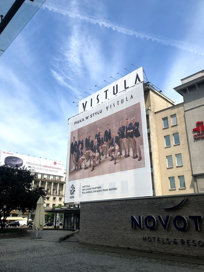 billboard Vistuli w centrum Warszawy